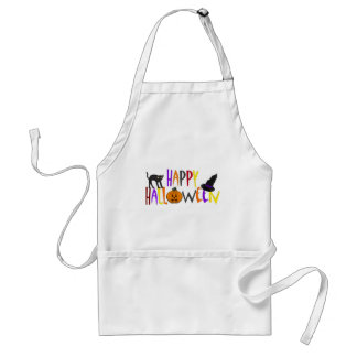 Colorful Happy Halloween Adult Apron