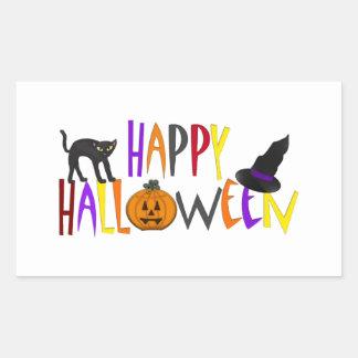 Colorful Happy Halloween Rectangular Sticker