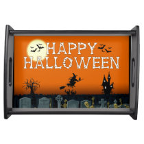 Colorful Happy Halloween Serving Trays
