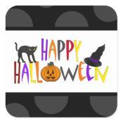 Colorful Happy Halloween Sticker