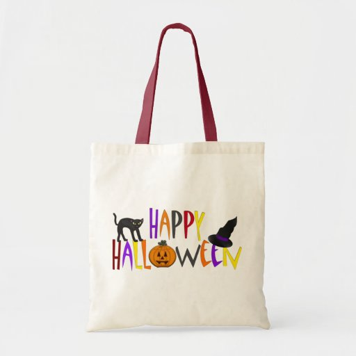 Colorful Happy Halloween Tote Bag
