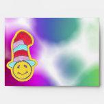 Colorful Happy Hippie Smiley Face Envelopes
