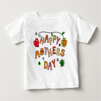 Colorful Happy Mothers Day Baby T-Shirt