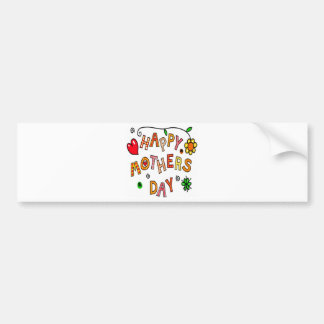 Colorful Happy Mothers Day Car Bumper Sticker
