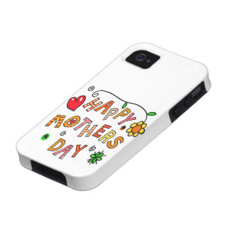 Colorful Happy Mothers Day iPhone 4 Cover