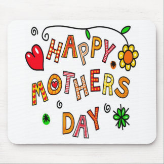 Colorful Happy Mothers Day Mouse Pad