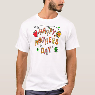 Colorful Happy Mothers Day T-Shirt