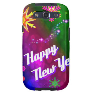 Colorful Happy New Happy Year Galaxy SIII Cover
