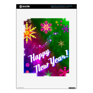 Colorful Happy New Happy Year Decals For iPad 3