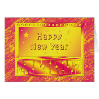 Colorful Happy New Year 2010 Card