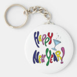 Colorful Happy New Year Key Chain