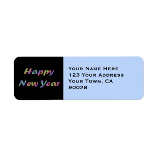 Colorful Happy New Year Label