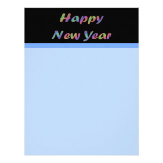 Colorful Happy New Year Custom Letterhead