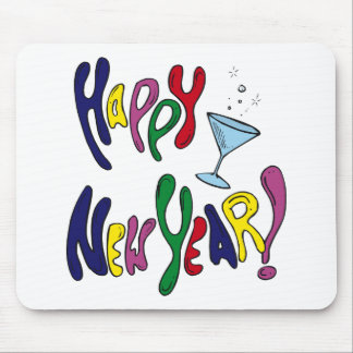 Colorful Happy New Year Mouse Pads