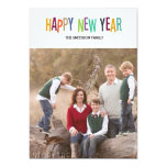 colorful happy new year new year card