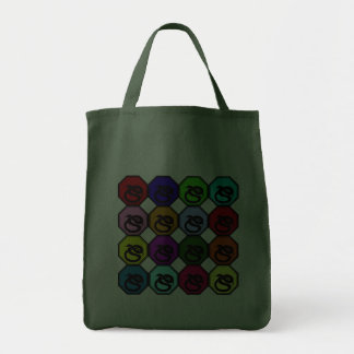 Colorful Happy New Year of the Snake Pop Art Canvas Bags