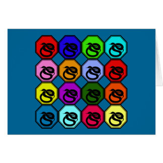 Colorful Happy New Year of the Snake Pop Art Greeting Card