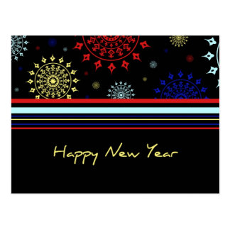 Colorful Happy New Year Postcards