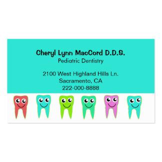 Colorful Happy Teeth Custom Dentist Business Card