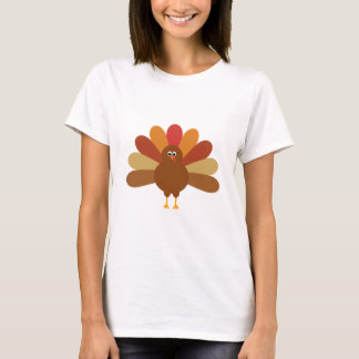 Colorful Happy Thanksgiving Turkey T-Shirt