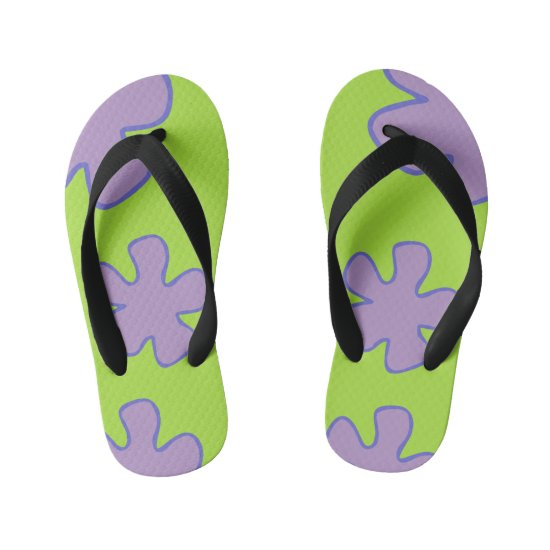 Colorful Hawaiian Shoes Kid's Flip Flops