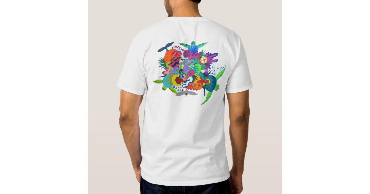 Colorful hawaiian t shirt design zazzle for Hawaiian design t shirts