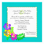 Colorful Hawaiian Tropical Wedding Invitation