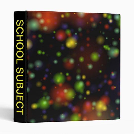 Colorful Hazy Orbs Far Away in the Deep Cosmos Binder