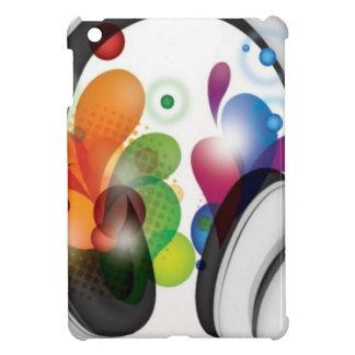 Colorful headphone music design case for the iPad mini