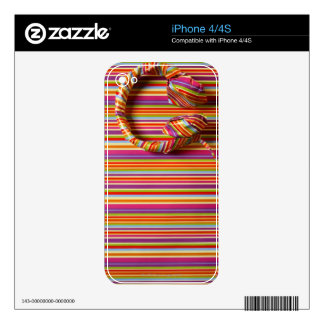 Colorful Headphones Skin For The iPhone 4S