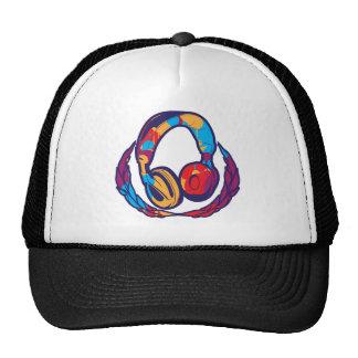 Colorful Headphones Trucker Hat