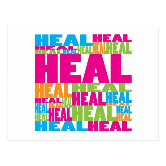 Colorful Heal Postcard