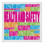 Colorful Health and Safety Posters