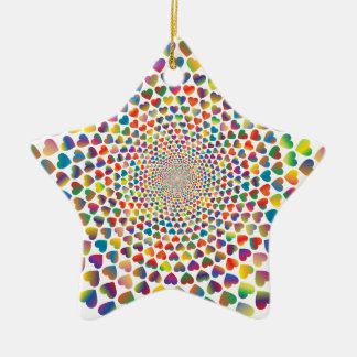 Colorful Hearst Rounds Ceramic Ornament