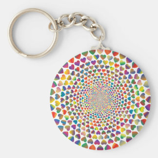Colorful Hearst Rounds Keychain