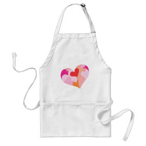 Colorful Heart Adult Apron