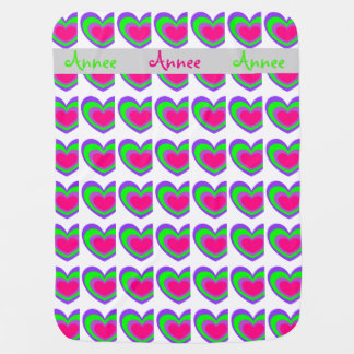 Colorful Heart-Baby Blanket