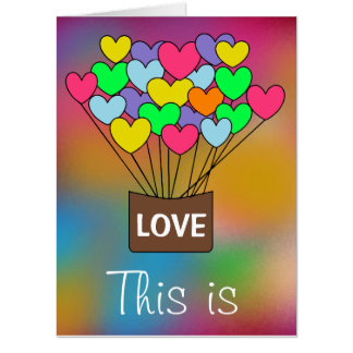 Colorful Heart Balloons Gigantic Card