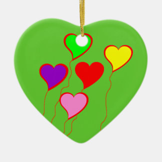 Colorful Heart Balloons Ornament