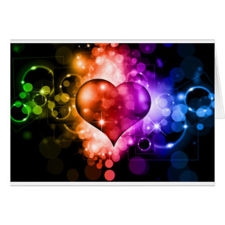 Colorful Heart Card