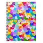 Colorful Heart Confetti Notebook