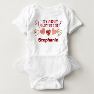 Colorful Heart Cookies Valentine's Day Baby Bodysuit