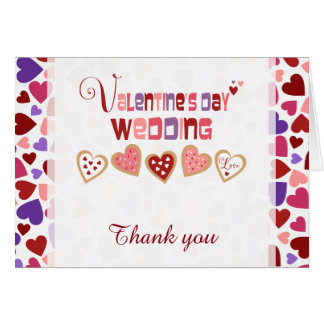 Colorful Heart Cookies Valentine's Day Thank You Card