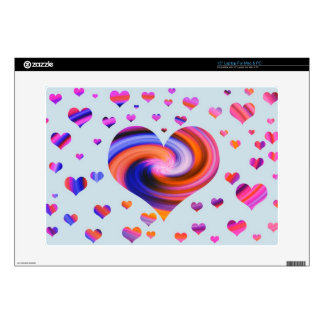 """Colorful Heart Design 15"""" Laptop Decal"""