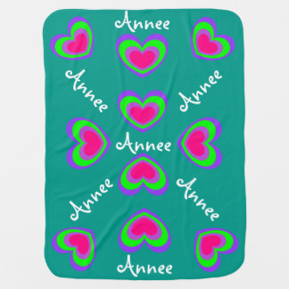 Colorful Heart Design-Baby Blanket
