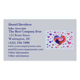 Colorful Heart Design Business Card
