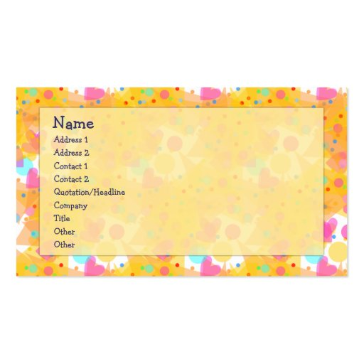 Colorful Heart Design Double-Sided Standard Business Cards (Pack Of 100)