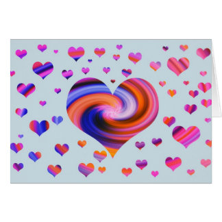Colorful Heart Design Card