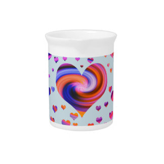 Colorful Heart Design Pitchers