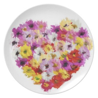 Colorful Heart Dinner Plate  sc 1 st  Be My Valentine World & Romantic Valentine Dinner Plates - Be My Valentine World